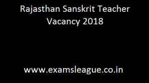 Rajasthan Sanskrit Teacher Vacancy