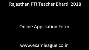 Rajasthan PTI Teacher Bharti
