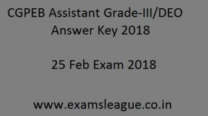 CGPEB Assistant Answer Key