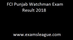 FCI Punjab Result