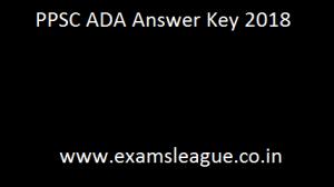 PPSC ADA Answer Key