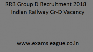 RRB Group D Recruitment 2018 Indian Railway RRC 62,902 Gr-D Vacancy Apply Online