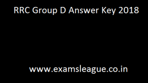 RRC Group D Answer Key 2018 Railway Group - D Cut off marks