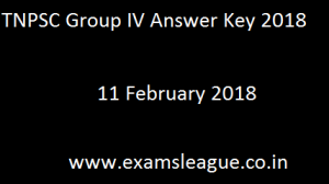 TNPSC Group IV Answer Key