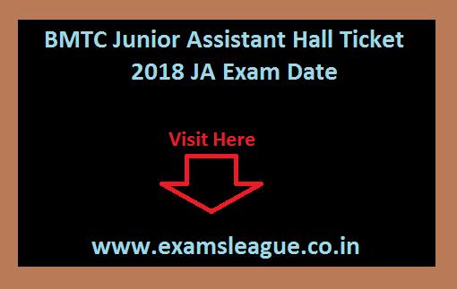 BMTC Junior Assistant Hall Ticket
