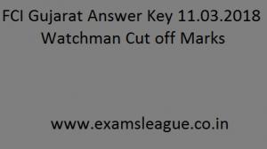 FCI Gujarat Answer Key