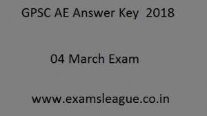 GPSC AE Answer Key