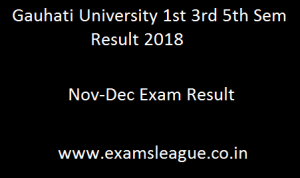 Gauhati University 1st 3rd 5th Sem Result