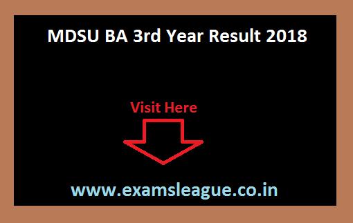 Mdsu Ba 3rd Year Result 2019 Released On 27.07.2019 Mdsuajmer.ac.in Ba Final Year Result Nc/regular