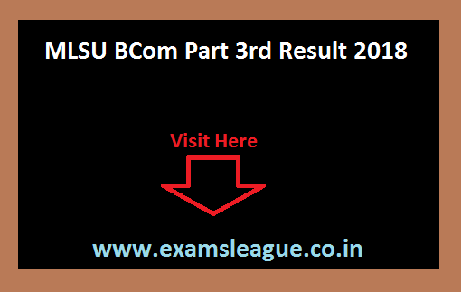 MLSU BCom Part 3rd Result 2018