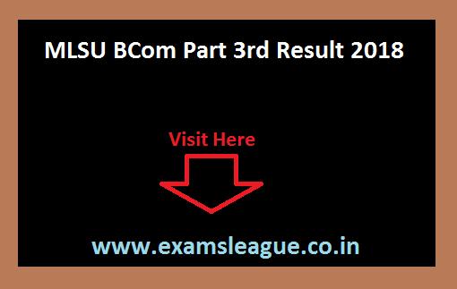 MLSU BCom Part 3rd Result 2018