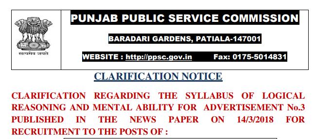 Punjab PSC Inspector Syllabus