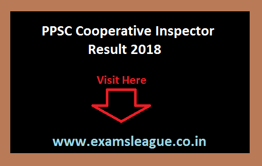 PPSC Cooperative Inspector Result 2018