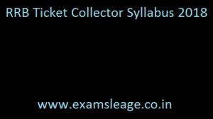 RRB TC Syllabus