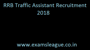 RRB Traffic Assistant Recruitment