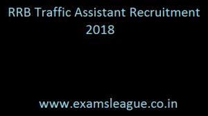 RRB Traffic Assistant Recruitment