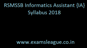 RSMSSB Informatics Assistant {IA} Syllabus 2018