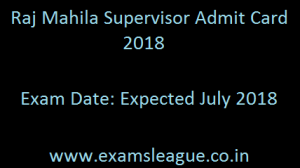 RSMSSB Mahila Supervisor Admit Card 2018