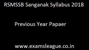RSMSSB Sanganak Syllabus