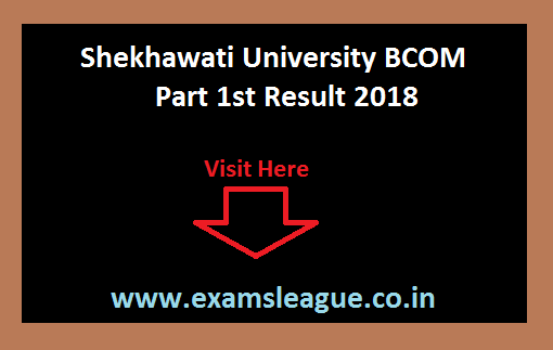 Shekhawati University BCOM Part 1st Result