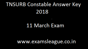 TNSURB Constable Answer Key