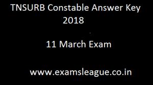 TNSURB Constable Answer Key