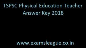 TSPSC PET Answer Key