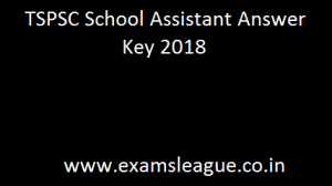TSPSC School Assistant Answer Key 2018 Telangana TRT SA Cut off Marks