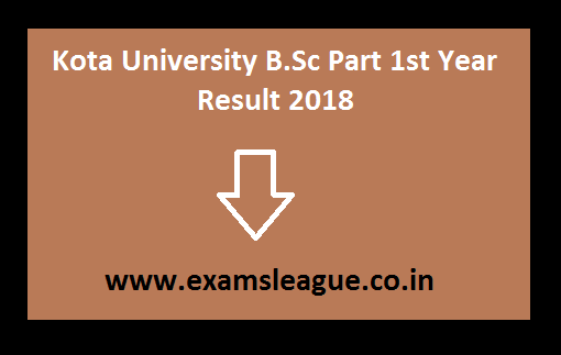 Kota University B.Sc Part 1st Year Result
