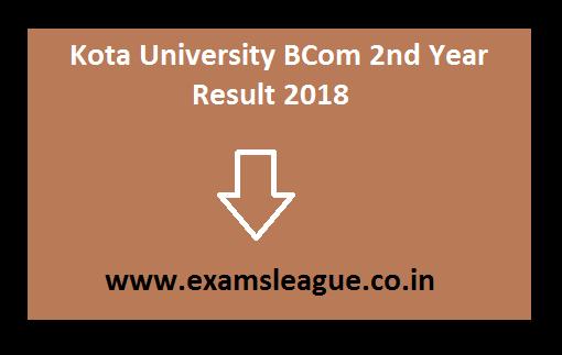 Kota University BCom 2nd Year Result 2018