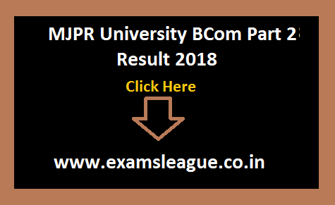 MJPR University BCom Part 2 Result 2018 B.Com 2nd Year Result Date NC/Regular