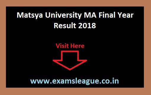 Matsya University MA Final Year Result Matsya University MA Final Year Result
