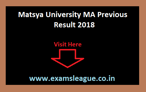 Matsya University MA Previous Result 2018