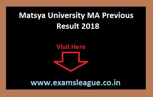 Matsya University MA Previous Result 2018