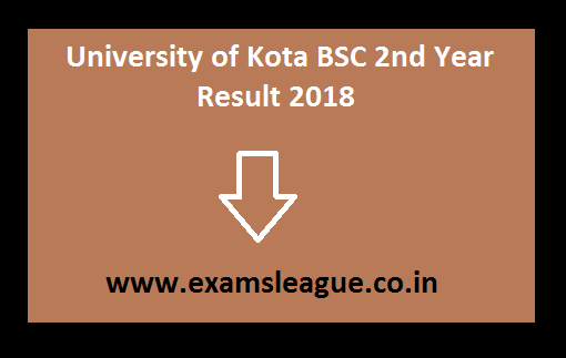 University of Kota BSC 2nd Year Result