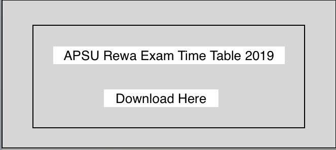 APSU Rewa BA BSC BCOM Time Table