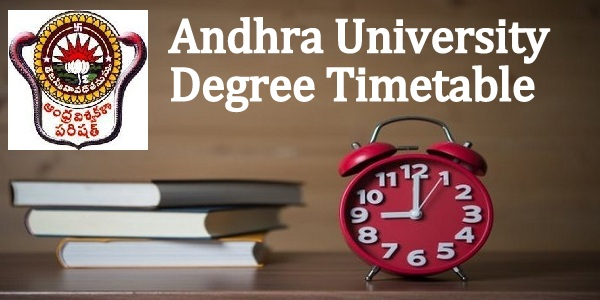 Andhra University AU Degree 1st 2nd 3rd Final Year Time Table