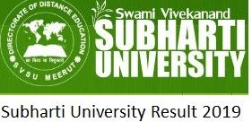 Subharti University BA BSc BCom Result 2019