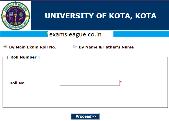 Kota University B.Ed Result 2019