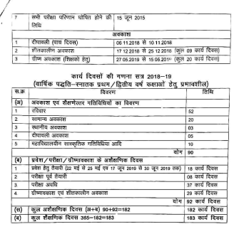 APSU Rewa BA BSC BCOM Time Table 2019