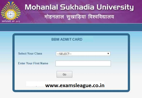 MLSU MSC Final Year Admit Card 2019