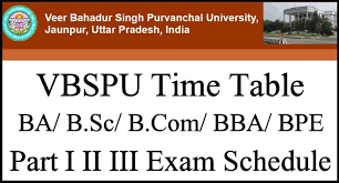 VBSPU BA 1st Year Time Table