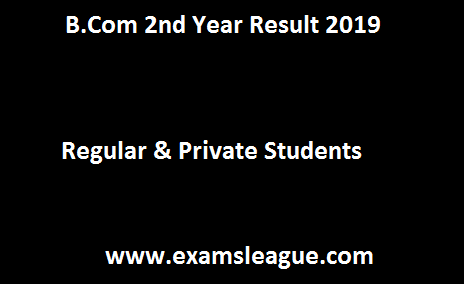 B.Com 2nd Year Result 2019
