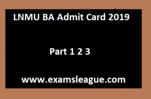 LNMU BA Admit Card 2019