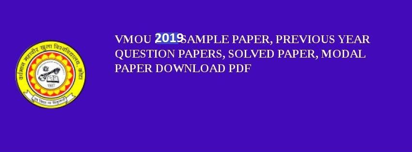 VMOU Guess Paper 2019