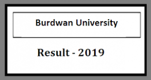 Burdwan University BA Part 3 Result 2019