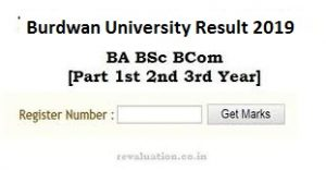 Burdwan University BA Part 2 Result 2019