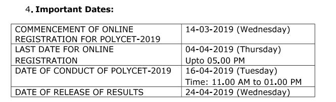 Telangana Polytechnic Result 2019