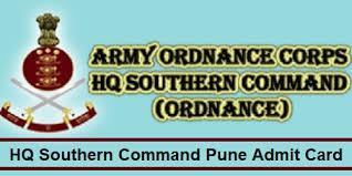 Army Ordnance Pune Tradesman Admit Card 2019