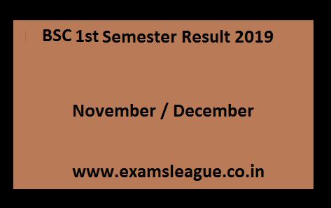 BSc 1st Sem Result 2020